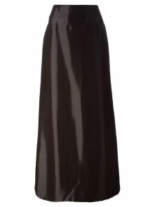 Jean Louis Scherrer Pre-Owned high-shine long skirt - Red