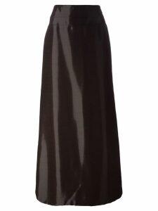Jean Louis Scherrer Pre-Owned high-shine long skirt - Red