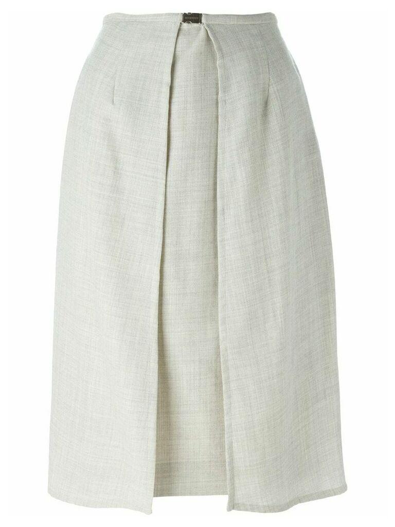 Jean Louis Scherrer Vintage panelled skirt - Grey