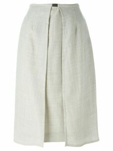 Jean Louis Scherrer Pre-Owned panelled skirt - Grey
