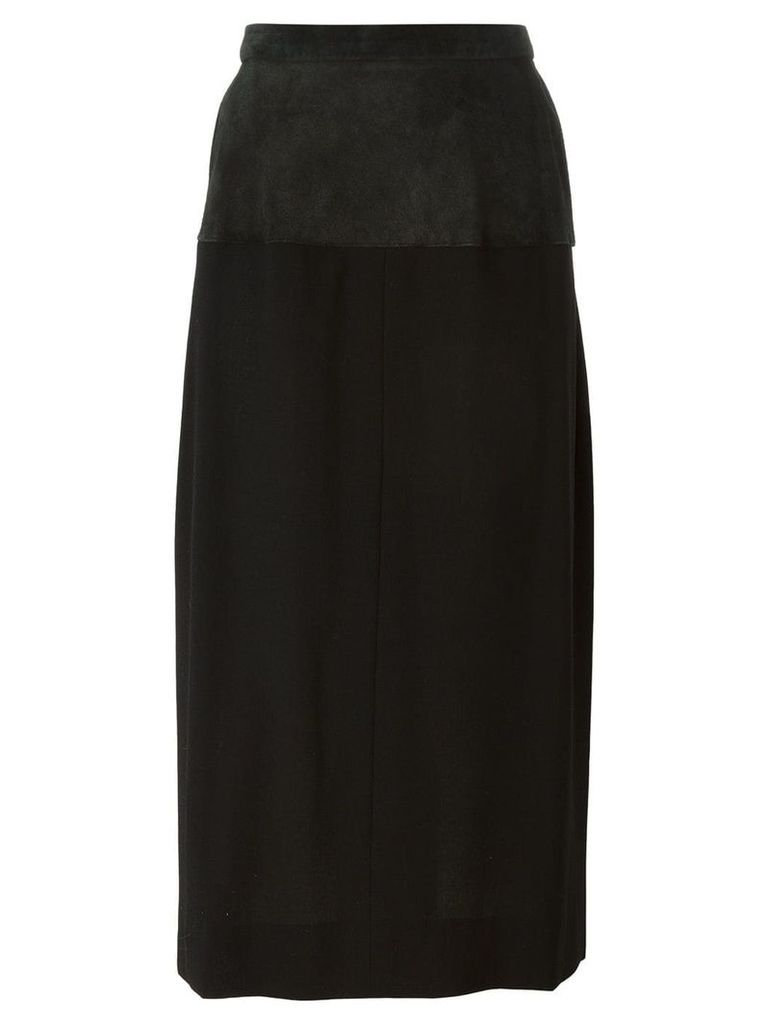 Yves Saint Laurent Vintage panel pencil skirt - Black