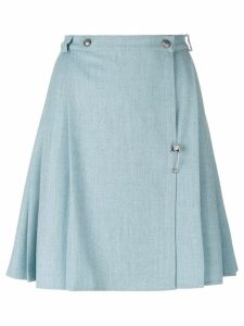 Versace Pre-Owned pleated skirt - Blue
