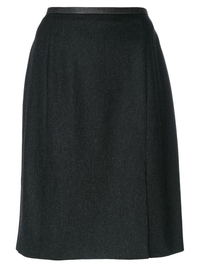 Yves Saint Laurent Vintage slit hem skirt - Grey