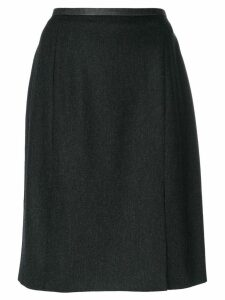 YVES SAINT LAURENT PRE-OWNED slit hem skirt - Grey