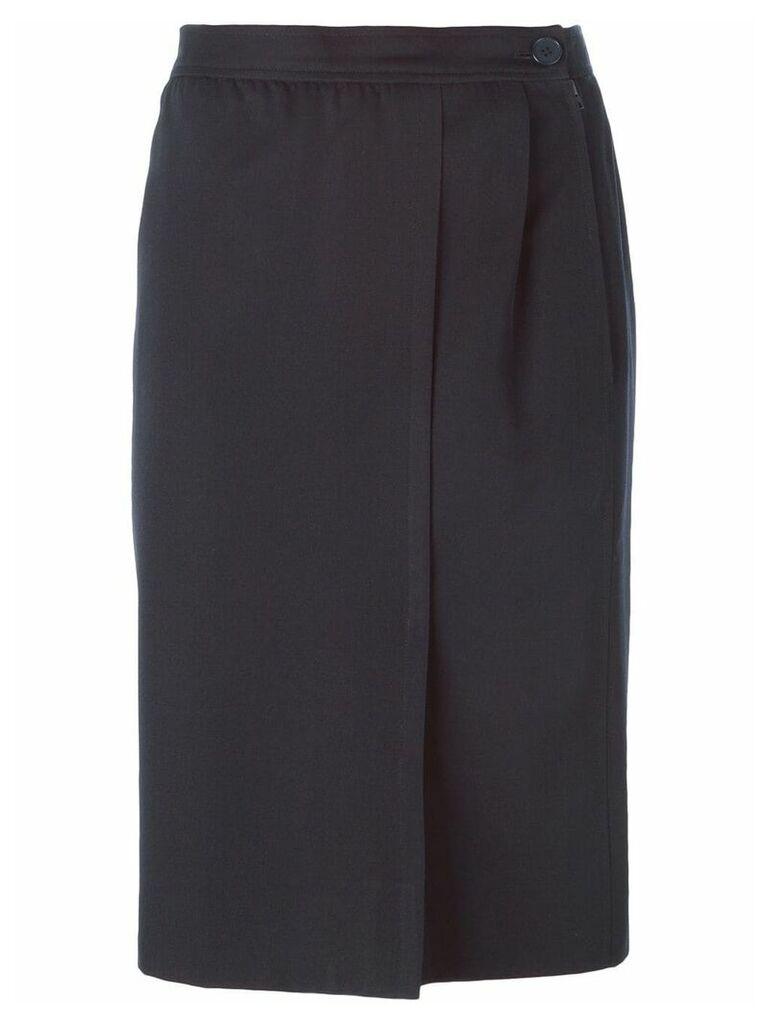 Yves Saint Laurent Vintage front slit skirt - Blue