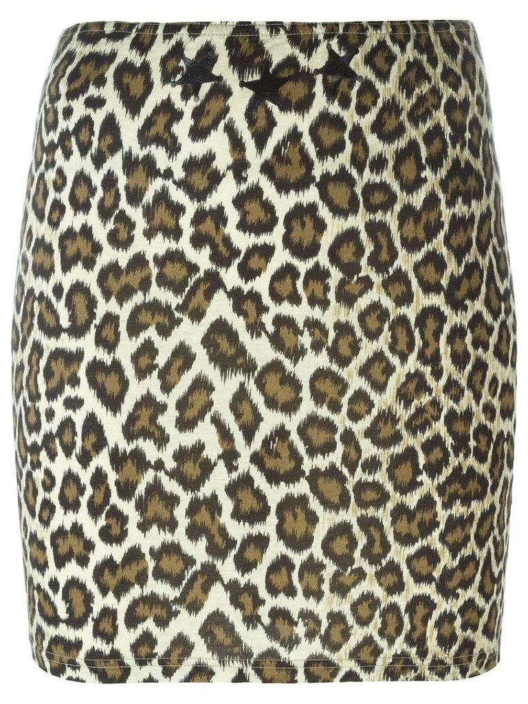Jean Paul Gaultier Vintage leopard print skirt - Neutrals