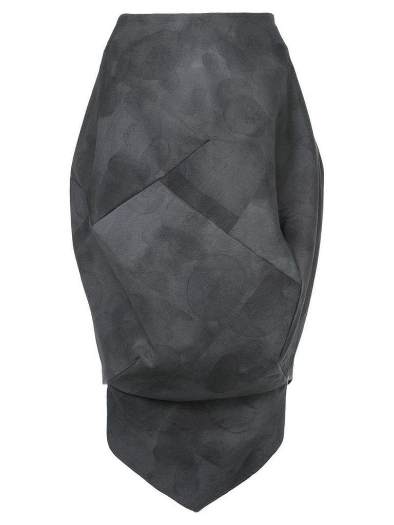 Comme Des Garçons Vintage bleach balloon skirt - Grey