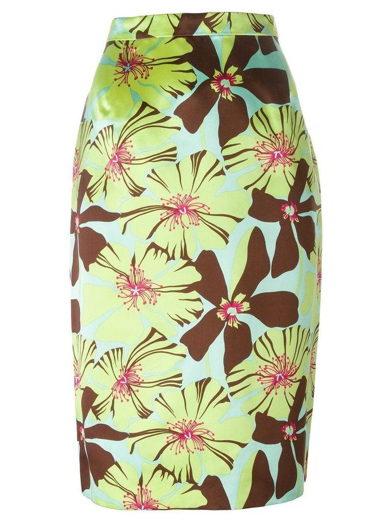 Prada Vintage floral pencil skirt - Green