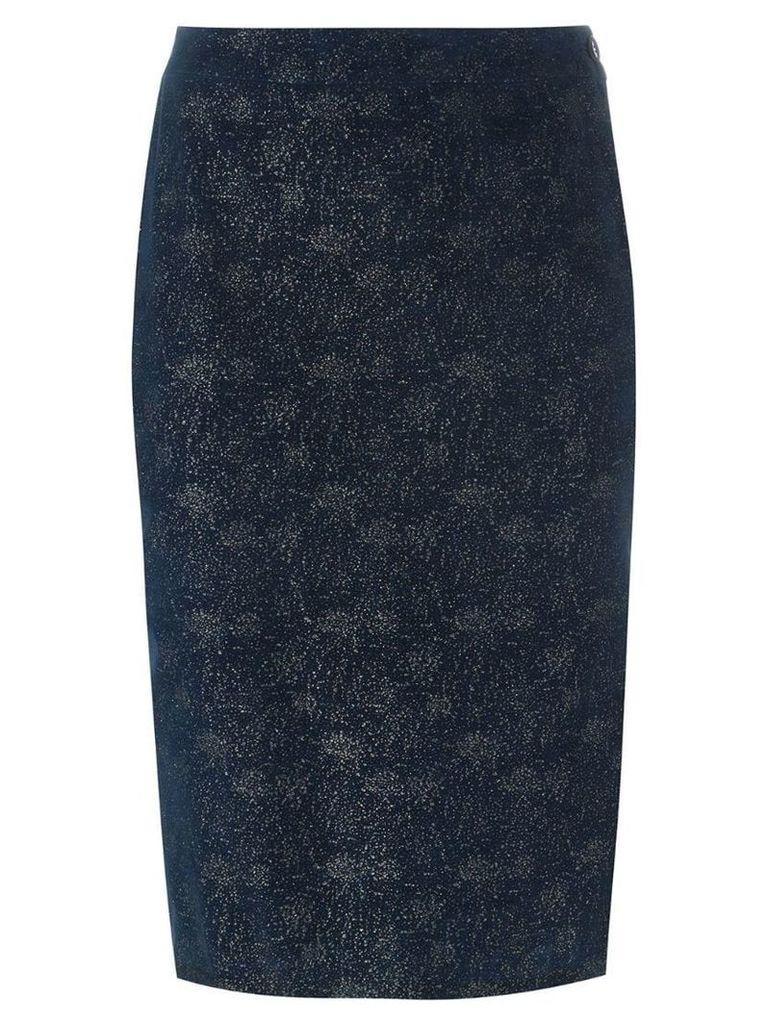 ROMEO GIGLI PRE-OWNED glitter pencil skirt - Blue