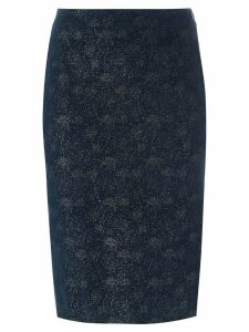 Romeo Gigli Pre-Owned glitter pencil skirt - Blue