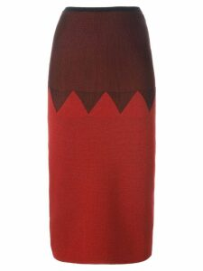 JEAN PAUL GAULTIER PRE-OWNED zig zag panelled skirt - Red