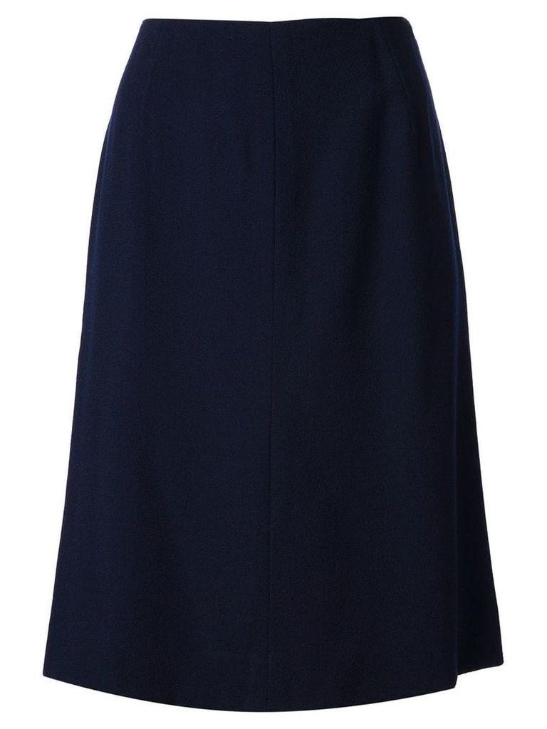 Krizia Vintage straight cut skirt - Blue
