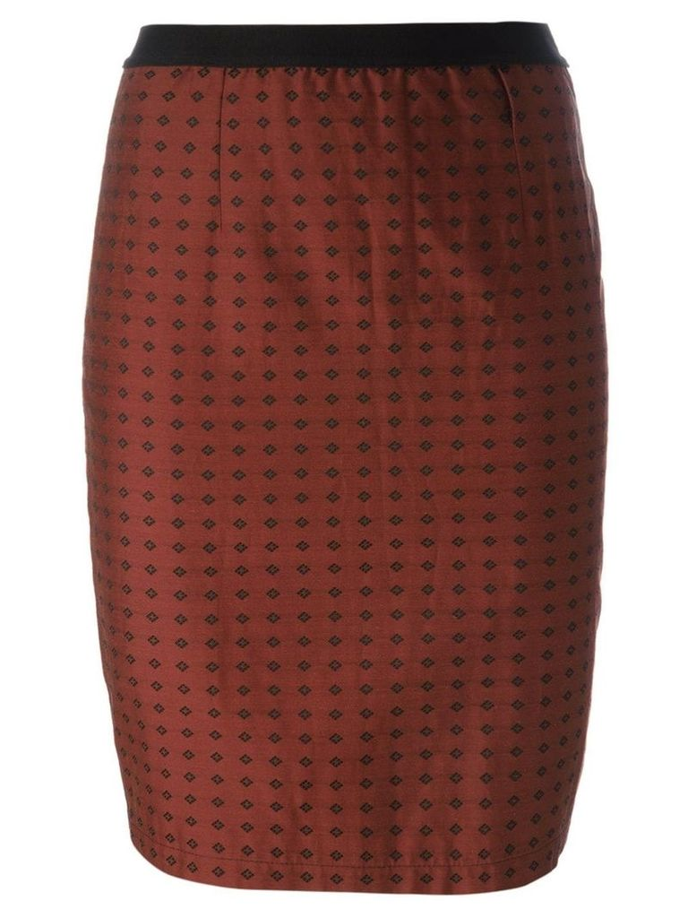 Jean Paul Gaultier Vintage rhombus print skirt - Brown