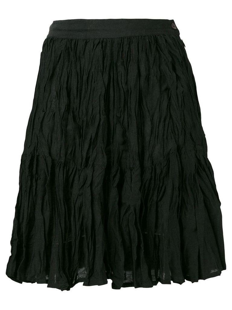 Kenzo Vintage crinkled skirt - Black