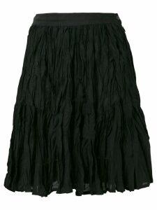 KENZO PRE-OWNED crinkled skirt - Black
