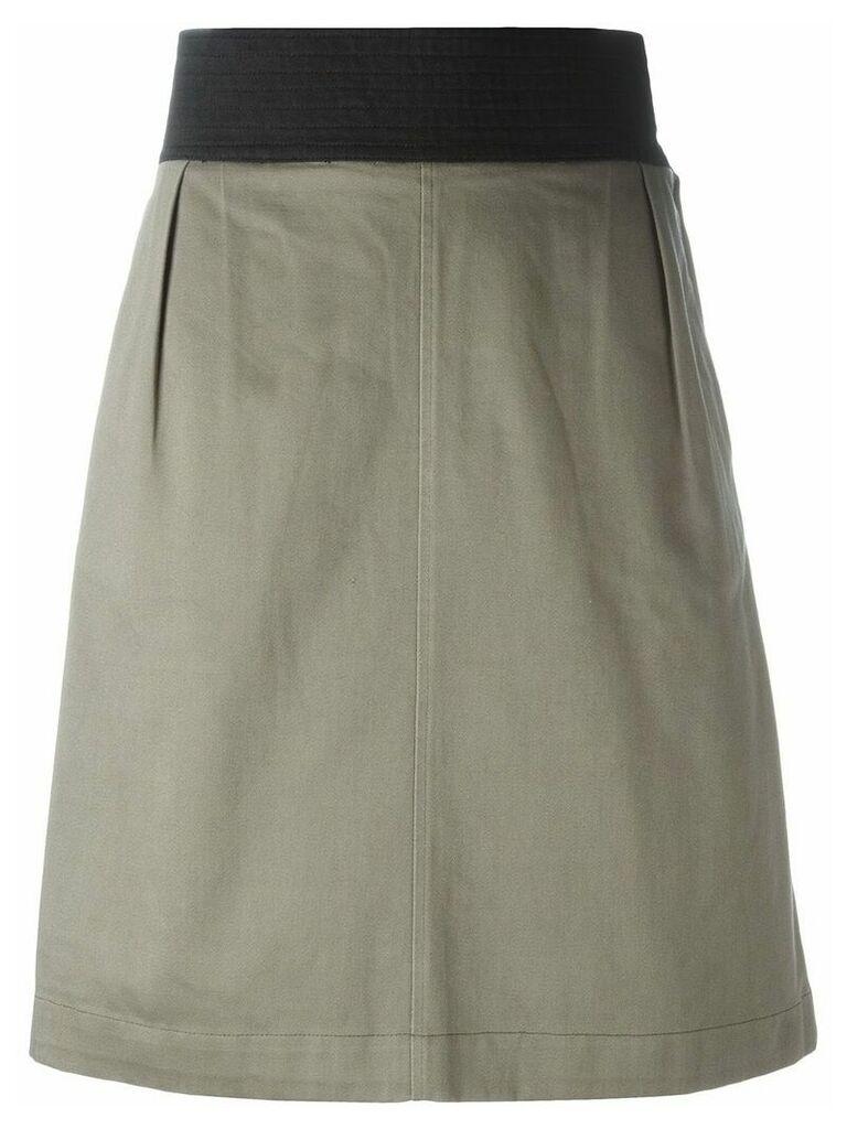 Yves Saint Laurent Vintage A-line skirt - Grey