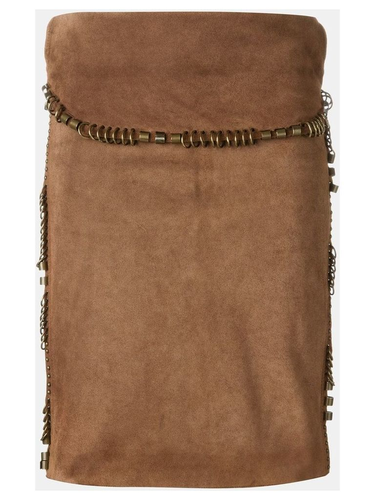 Yves Saint Laurent Vintage suede skirt - Brown