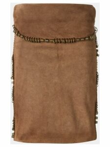 YVES SAINT LAURENT PRE-OWNED suede skirt - Brown