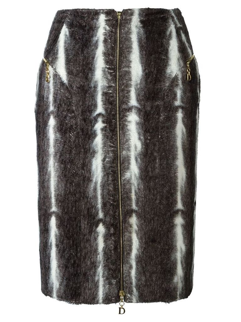 Christian Dior Vintage faux fur skirt - Grey