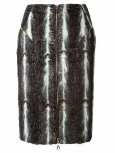 CHRISTIAN DIOR PRE-OWNED faux fur skirt - Grey