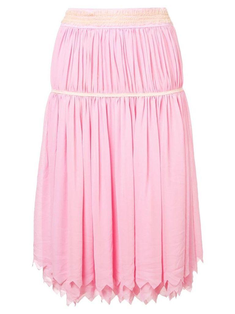 Comme Des Garçons Vintage gathered geometric skirt - Pink