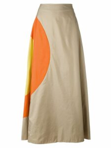 JC de Castelbajac Pre-Owned bulls eye a-line skirt - Neutrals
