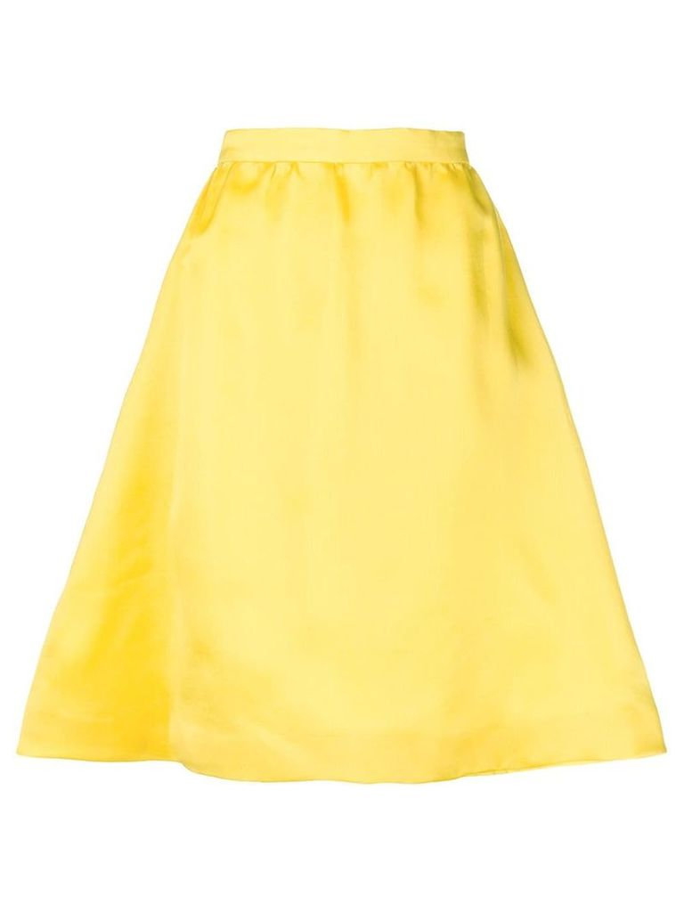 Balenciaga Pre-Owned flared A-line skirt - Yellow