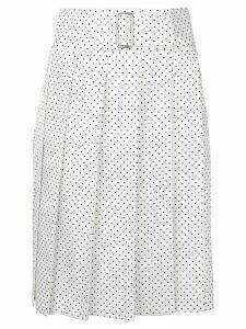 Comme Des Garçons Pre-Owned polka dot pleated wrap skirt - White