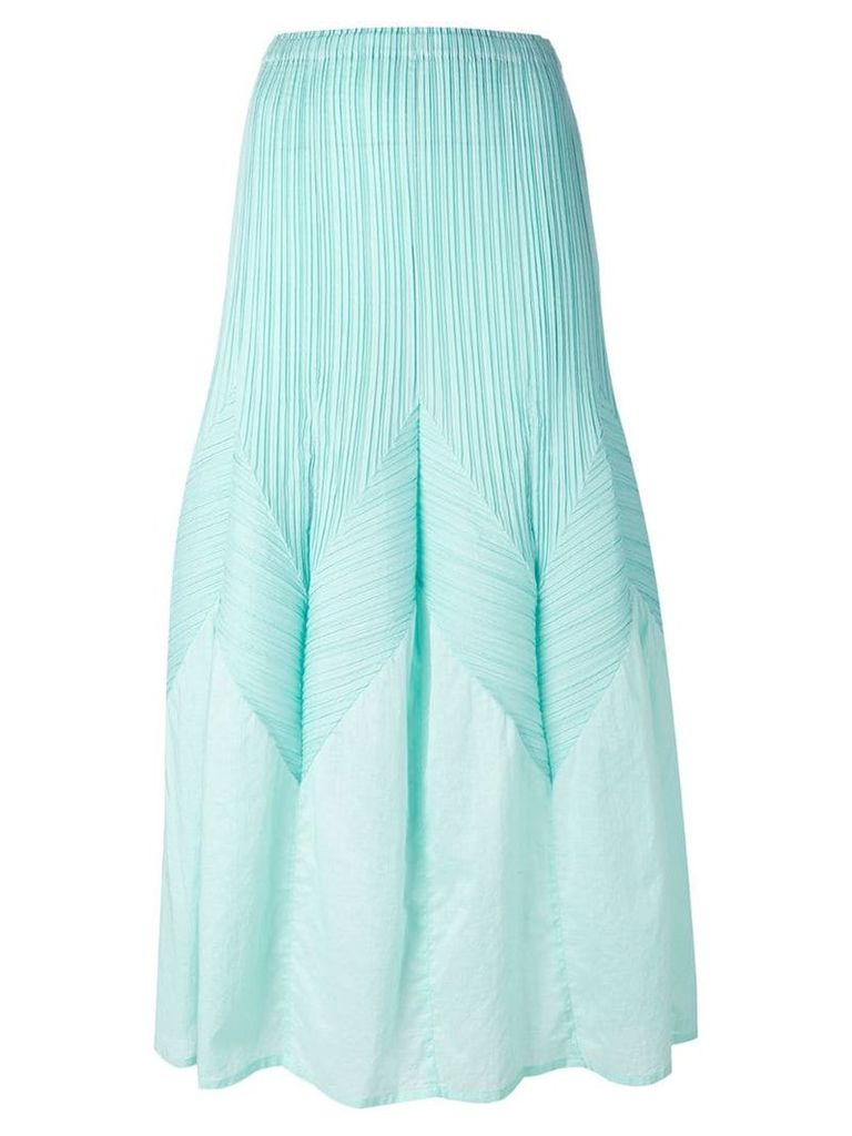 Issey Miyake Vintage long a-line pleated skirt - Green