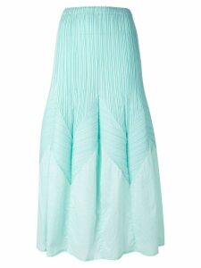 Issey Miyake Pre-Owned long a-line pleated skirt - Green