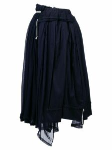 Comme Des Garçons Pre-Owned layered gathered midi skirt - Blue