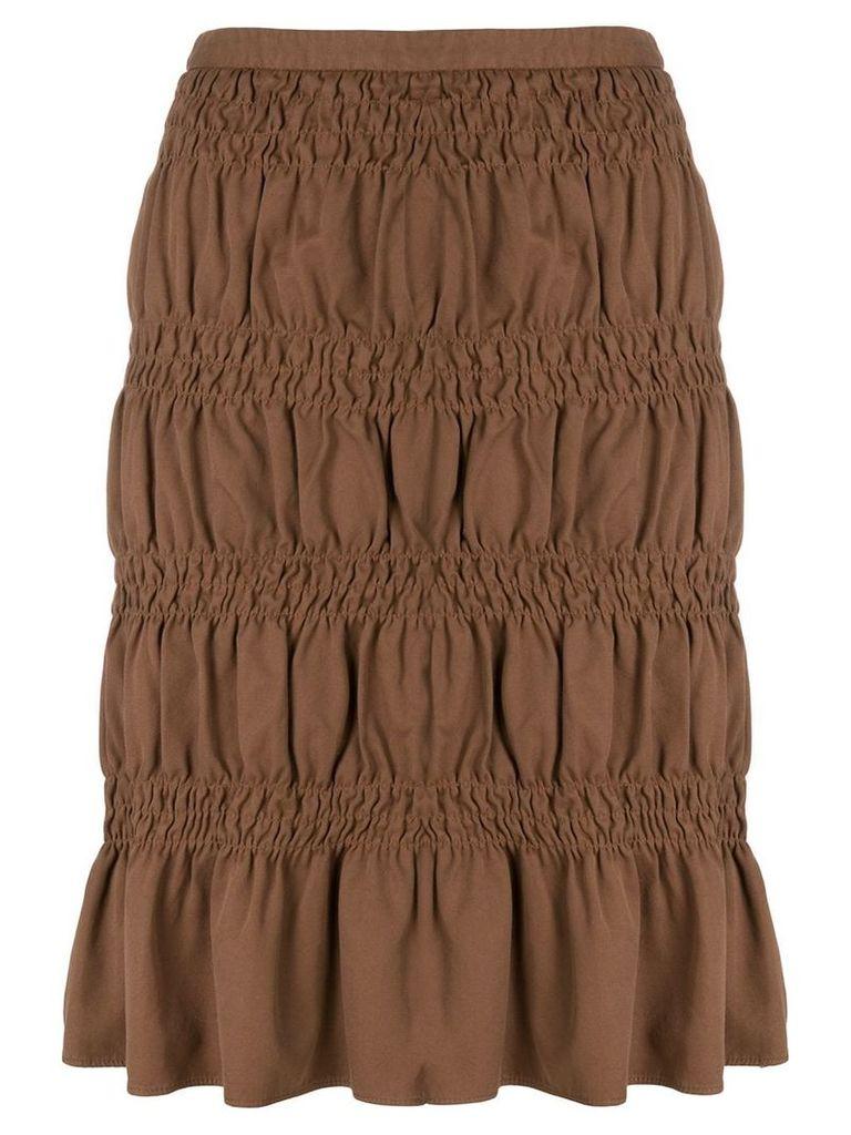 Romeo Gigli Vintage gathered short skirt - Brown