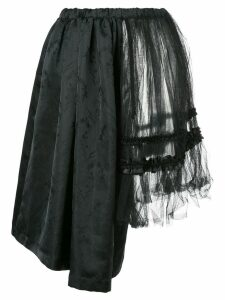 Comme Des Garçons Pre-Owned floral embroidered skirt - Black