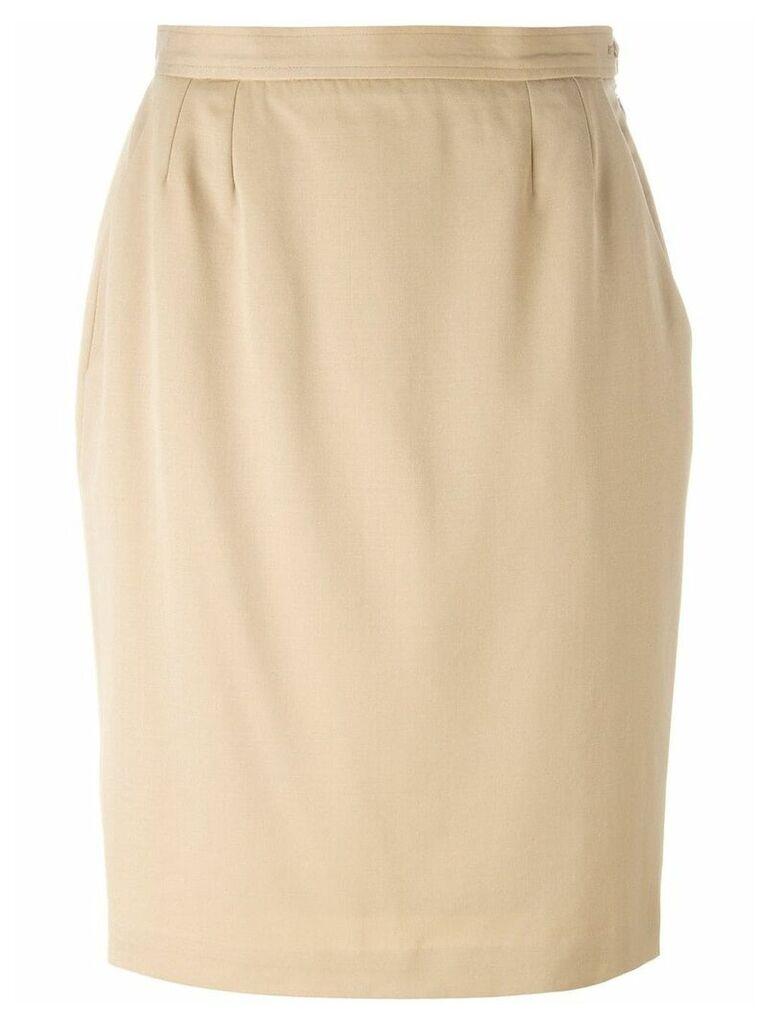 Yves Saint Laurent Pre-Owned knee length skirt - Neutrals