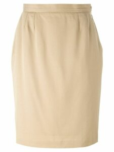 Yves Saint Laurent Pre-Owned knee length skirt - Neutrals