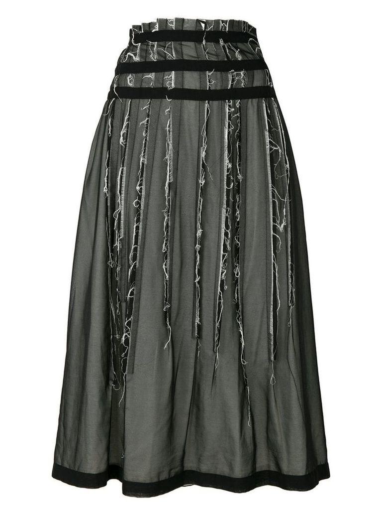 Comme Des Garçons Vintage layered distressed skirt - Black