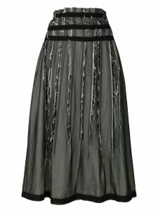 Comme Des Garçons Pre-Owned layered distressed skirt - Black