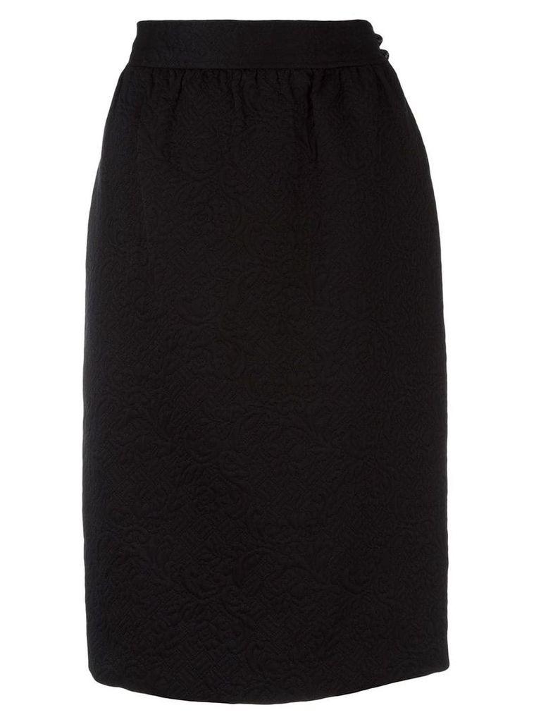Emanuel Ungaro Pre-Owned jacquard skirt - Black