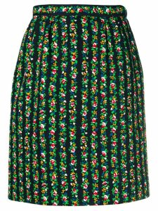 Yves Saint Laurent Pre-Owned floral print skirt - Black