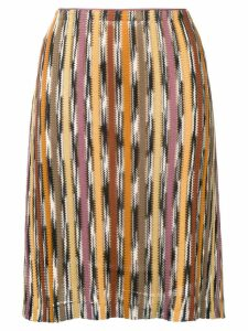 Missoni Pre-Owned patterned stripe knitted skirt - Multicolour