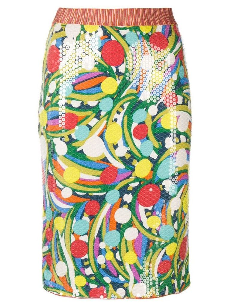 Missoni Vintage sequinned fitted skirt - Multicolour