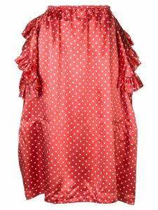 Comme Des Garçons Pre-Owned deconstructed ruffle polka dot skirt - Red
