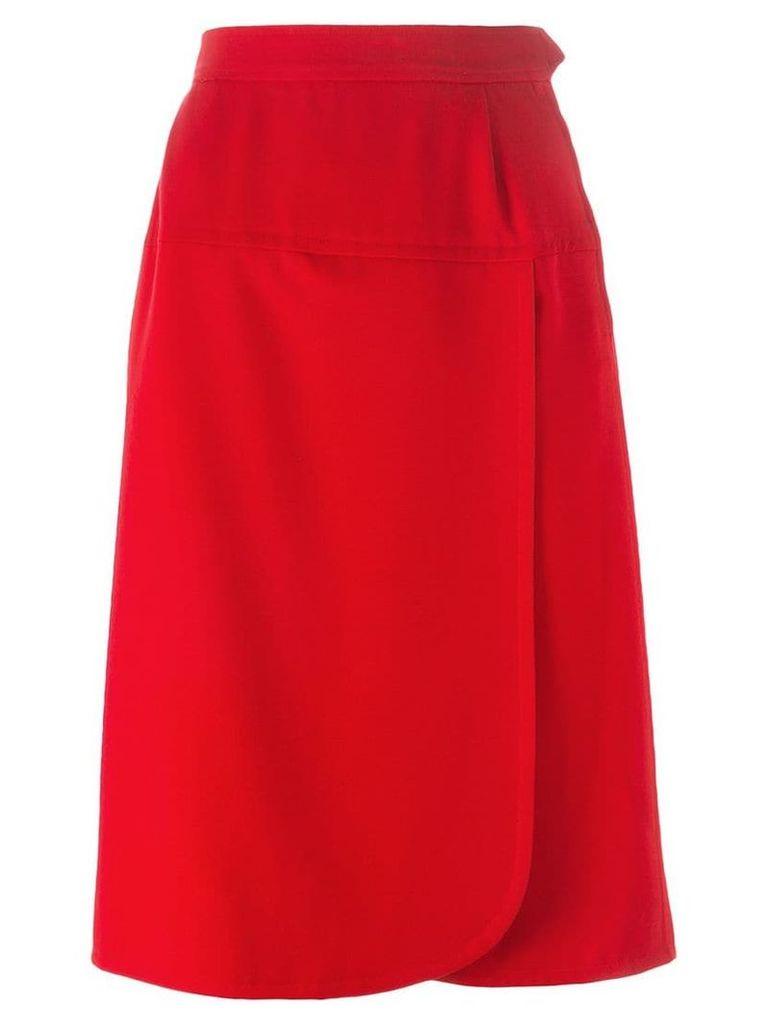 Yves Saint Laurent Vintage wrap front skirt - Red