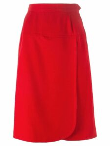 Yves Saint Laurent Pre-Owned wrap front skirt - Red