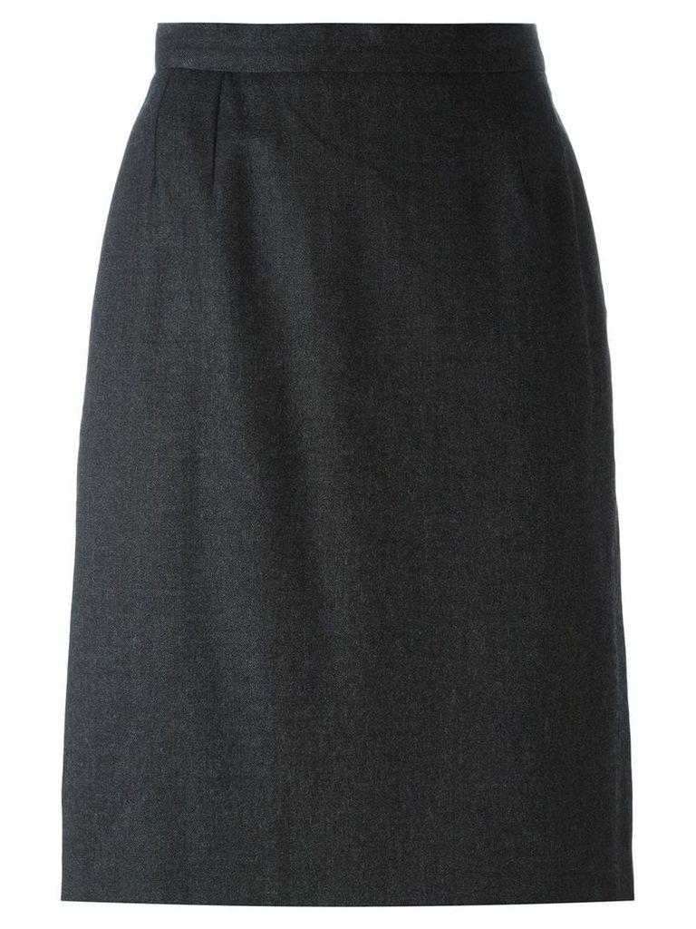 Yves Saint Laurent Vintage straight midi skirt - Grey