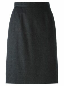 YVES SAINT LAURENT PRE-OWNED straight midi skirt - Grey