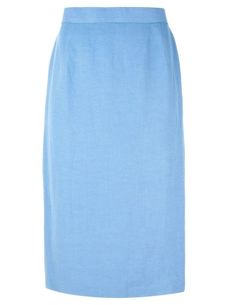 Louis Feraud Pre-Owned classic pencil skirt - Blue