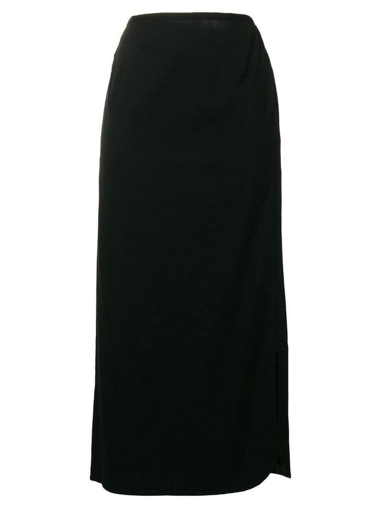 Yohji Yamamoto Vintage mid-length pencil skirt - Black