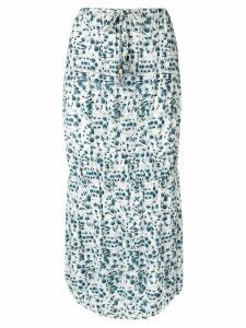 Fendi Pre-Owned floral print skirt - Blue
