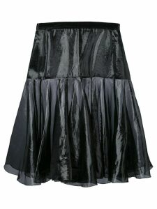 KRIZIA PRE-OWNED flared layer skirt - Black